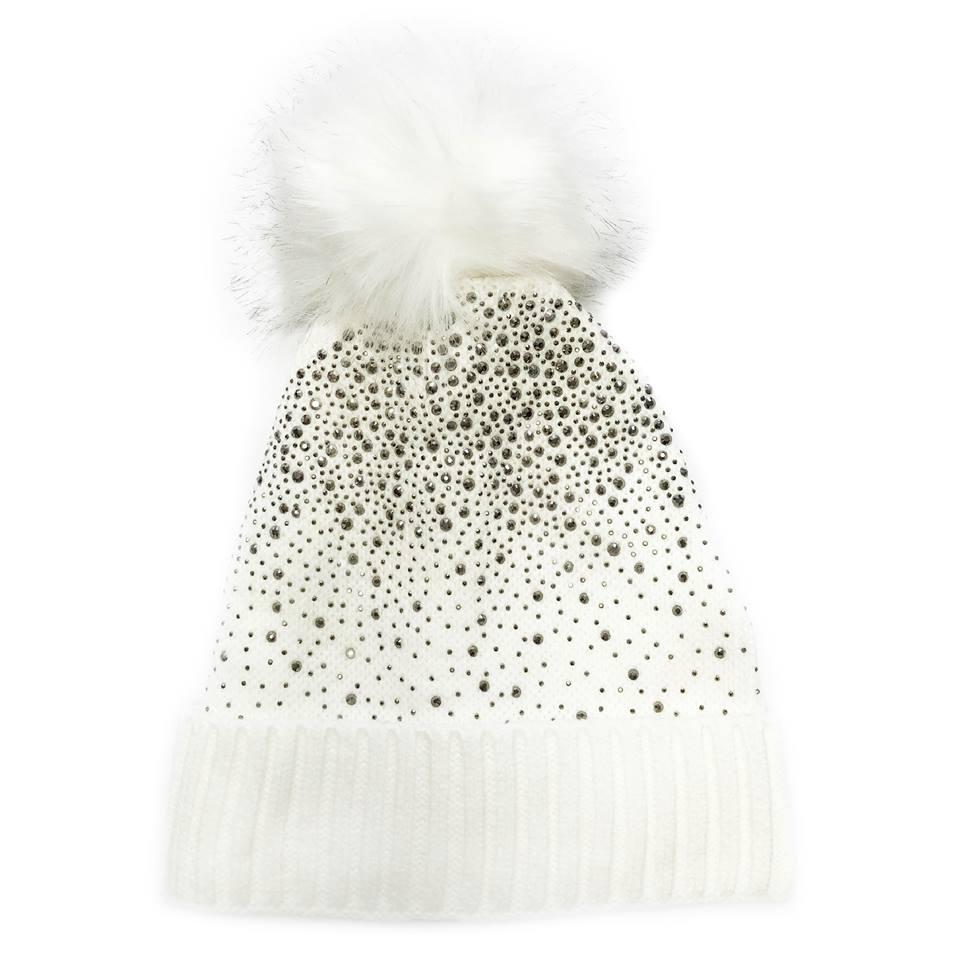 7967004e44d ... Crystal Knit Faux-Fur Pom-Pom Hat. 60797W 4.35